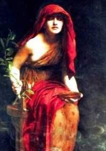 """Priestess of Delphi "" (1891)"