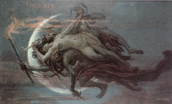 """Hekate"" by Maximilian Pirner (1901)"